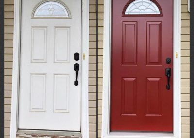 red front door remodel