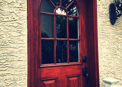 wooden front door remodel