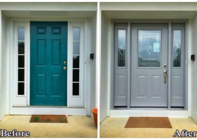 front door remodel before and after