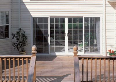 sliding door to deck