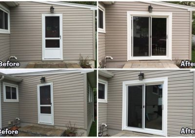 sliding door before and after