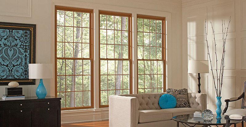 windows in a living room
